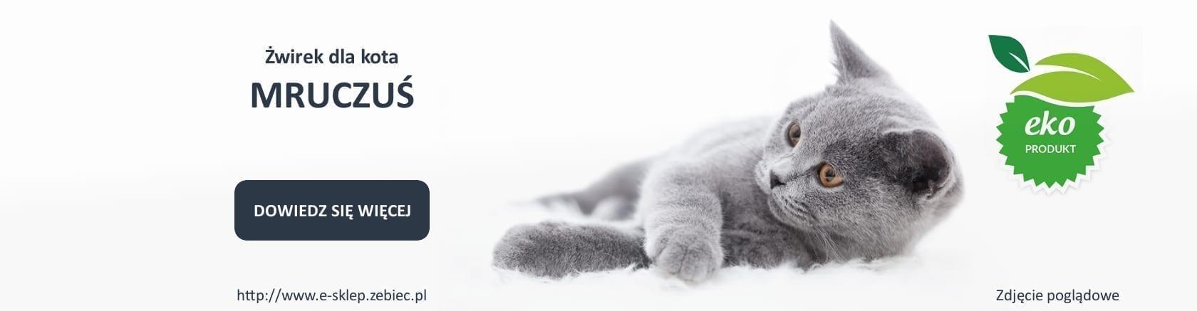 baner żwirku dla kota